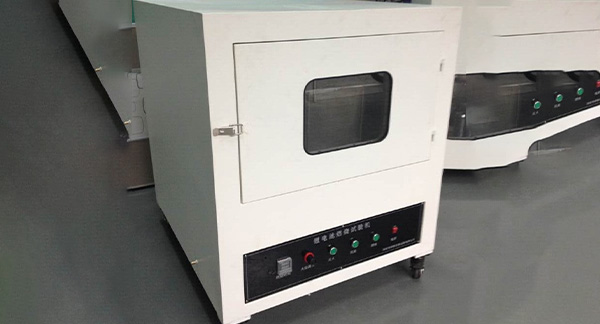 What is the composition of the battery combustion test machine?
